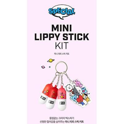 BT21 MINI LIPPY STICK KIT(#1 PINK ROSE, 2 RED WING, 3 PURE CORAL), 미니 리피 스틱 키트(#1 핑크로즈, 2 레드 윙, 3 퓨어 코랄)
