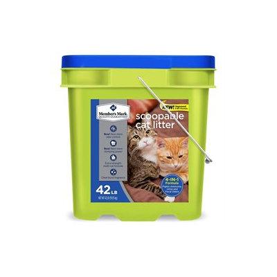Member's Mark 4-in-1 Formula Scoopable Cat Litter, 42 lb.
