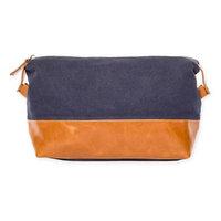 Brouk & Co Original Toiletry Bag in Blue/Brown