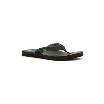 Sanuk 6M Black Yoga Zen Flip Flops