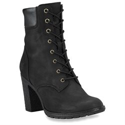 Timberland Women's Glancy Lace-up Leather Heeled Boots - Black