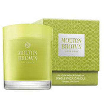 Molton Brown Single Wick Candle - Lily of the Valley & Violet Leaf