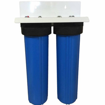 Abundant Flow Water 20-inch 2 Stage Big Blue Whole House Filter with Radial Flow Carbon & Activated Alumina Filters