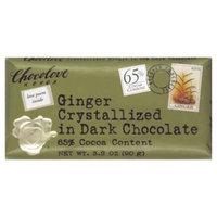 Chocolove Xoxo Dark Chocolate Bar Crystallized Ginger 3.2 Oz (Pack of 12) - Pack Of 12