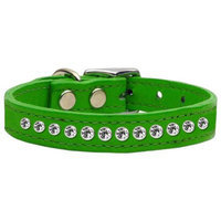 Ahi One Row Jewelled Leather Emerald Green 14