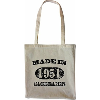 Mister Merchandise Tote Bag Made in 1951 All Original Parts 64 65 Shopper Shopping , Color [Black]