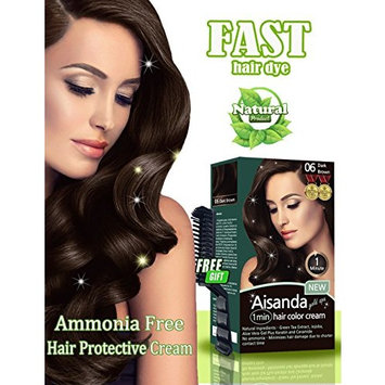 Dark Brown Hair Color Natural Hair Dye for Women & Men,Semi-Permanent, Full Gray Coverage,Ammonia Free,Long Lasting,Aisanda Gold Spa 1min Hair Color Cream