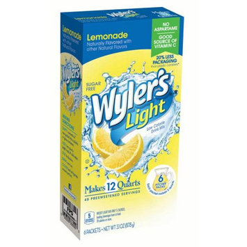 Jel Sert Wyler's Light Pitcher Packs! Drink Mix, Lemonade, 3.1 Oz, 6 Ct (Pack of 8)