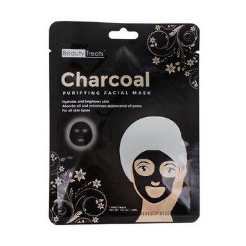 (6 Pack) BEAUTY TREATS Charcoal Purifying Facial Mask : Beauty