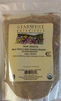Starwest Botanicals Organic Milk Thistle Seeds Powder - 4 oz