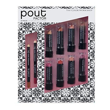 The Color Workshop Pout Perfection Lip Color Collection, 10 Count