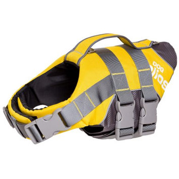 Pet Life Helios Splash-Explore Outer Performance 3M Reflective and Adjustable Buoyant Dog Harness - Yellow - Medium