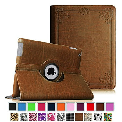 Fintie iPad 2/3/4 Case - 360 Degree Rotating Stand Smart Case Cover for Apple iPad 4th Gen with Retina Display, the new iPad 3 & iPad 2 (Automatic Wake/Sleep Feature) - Vintage Antique Bronze