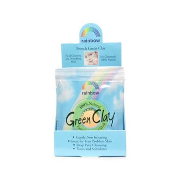 Rainbow Research Green Clay Packet Display Center - Case of 12 - .75 oz - HSG-735381