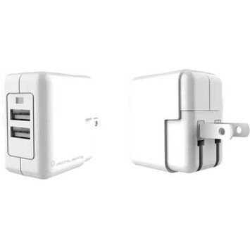 Mental Beats Dual USB 2.1 AMP White Home Charger