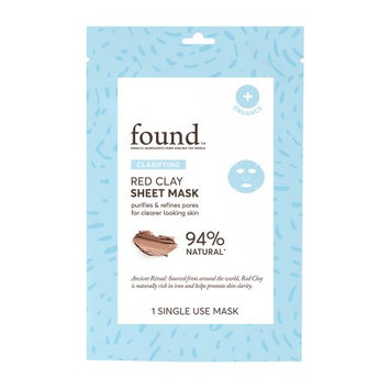 Hatchbeauty Products FOUND CLARIFYING Red Clay Sheet Mask, 1 Single Use Mask