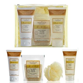 Aromafloria Aromatherapy Collection Muscle Soak Workout Relief Kit, Eucalyptus/Peppermint/Lemongrass