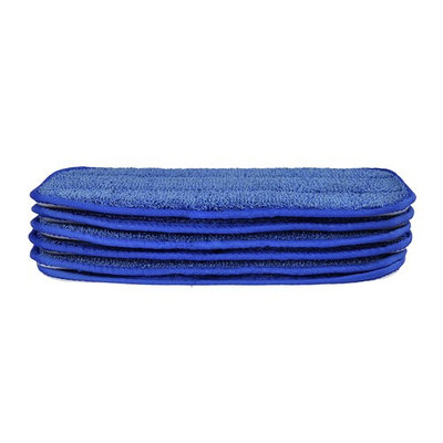 CleanAide All Purpose Twist Yarn Microfiber Mop Pads 10 Inches Blue 6 Pack
