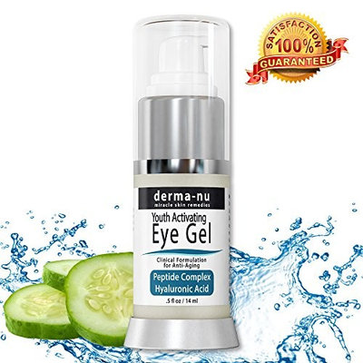 Anti Wrinkle Eye Cream Gel – Moisturizing Gel for Dark Circles Under the Eyes & Puffiness – Hyaluronic Acid Formula Infused Serum with...