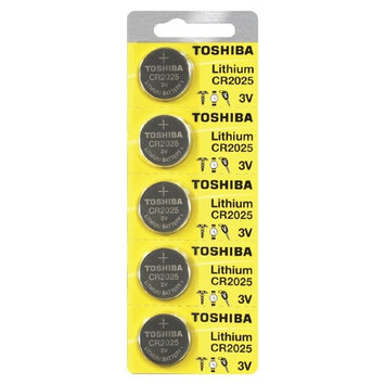 Toshiba CR2025 3 Volt Lithium Coin Battery (Pack of 100)