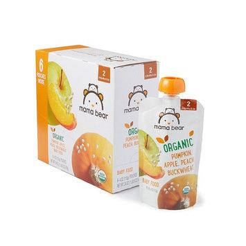 Amazon Brand - Mama Bear Organic Baby Food, Stage 2, Pumpkin Apple Peach Buckwheat, 4 Ounce Pouch