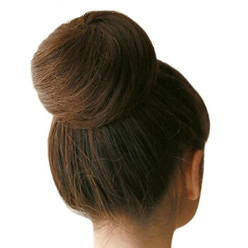 Riyang Women's Hair Bun Extensions Short Straight Drawstring Synthetic Blonde #613