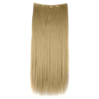 Florata 3/4 full head Straight Smooth Clip in Hair Extensions Hairpieces Black Blonde Brown(30 inch-Ash Blonde)