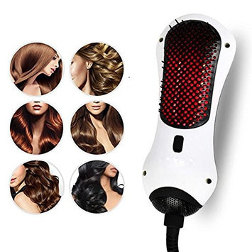 Carejoy Mini One Step Hair Dryer & Styler 2 in 1 Infrared Hot Air Comb Hot Air Paddle Brush Hair Straightener for All Hair Types Salon Home Travel