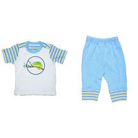 T-Shirt w/ Pants - Chameleon Stripe - 9-12M