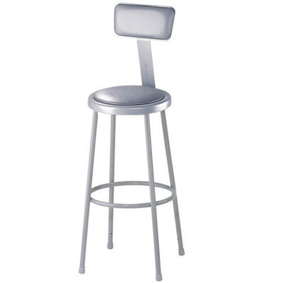 National Public Seating 6430B Grey Steel Stool with 30