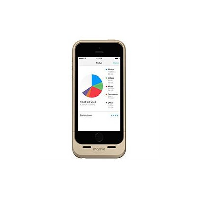 Mophie Space Pack iPhone 5/5s Batteriecover 1.700 mAh + 16GB Gold