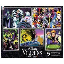 Ceaco Disney 5-in-1 Multipack Puzzle Packs - Villians