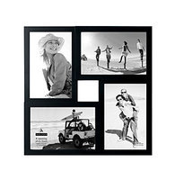Malden 4 Opening Black Collage Frame-One Size, BLACK