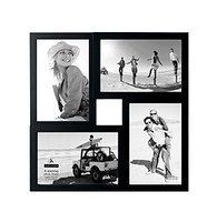 Malden 4 Opening Black Collage Frame-One Size, BLACK