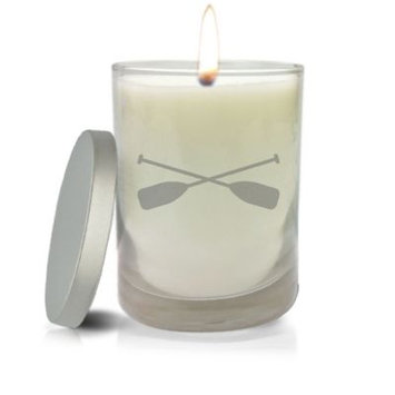 Carved Solutions Gem Collection Unscented Oars Soy Wax Candle in White