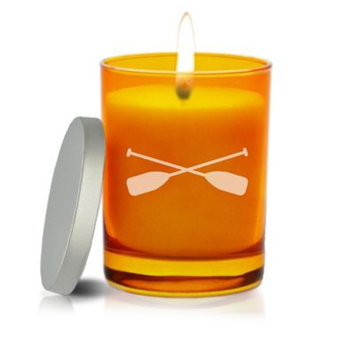 Carved Solutions Gem Collection Unscented Oars Soy Wax Candle in Topaz
