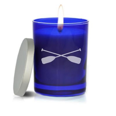 Carved Solutions Gem Collection Unscented Oars Soy Wax Candle in Sapphire