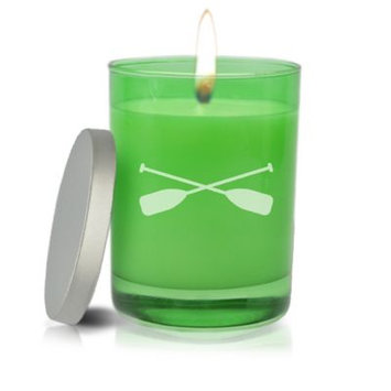 Carved Solutions Gem Collection Unscented Oars Soy Wax Candle in Emerald
