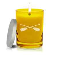 Carved Solutions Gem Collection Unscented Oars Soy Wax Candle in Citrine