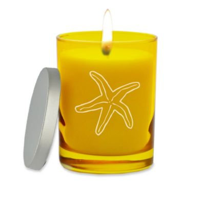 Carved Solutions Gem Collection Unscented Starfish Soy Wax Candle in Citrine