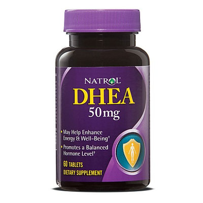 Natrol DHEA Supplement 60 mg / 50 mg Strength Tablets, 60 per Bottle