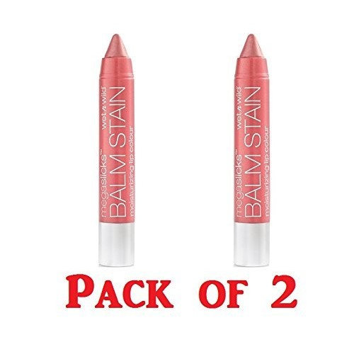 2 Pack Wet n Wild Beauty Megaslicks Lip Balm Stain 128 Pink Promise