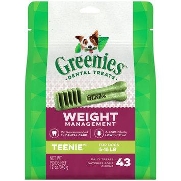 Greenies Weight Management Dental Chews Teenie All Stages Dog Treats, 43 Ct