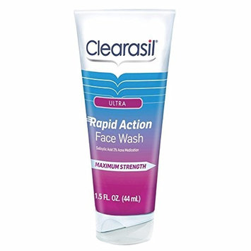 Clearasil Ultra Rapid Action Daily Face Wash, 1.5 oz. (Pack of 2)