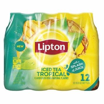 Lipton Iced Tea, Tropical, 16.9 Fl Oz, 12 Count