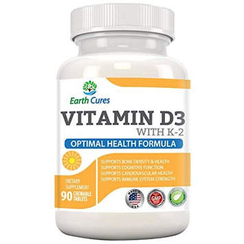 5 in 1- Vitamin D-3, K-2 - Supports Bone Health, Immune Systems, Cardiovascular Health, and Cognitive Enhancement