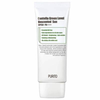 PURITO Centella Green Level Unscented Sun SPF50+ PA++++ 60ml / 2 fl.oz EWG All Green Ingredients, 100%, Cica care, UVA1,2 UVB, Broad spectrum,Lightweight,Sensitive skin,essential oil free
