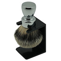 Handmade Manchuria Bagder Hair Brush Chrome Metal Handle OEM by Frank Shaving Free Drip Stand Includ