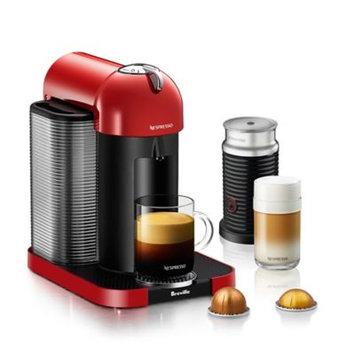 Nespresso® by Breville VertuoLine with Aeroccino Coffee and Espresso Maker in Red Bundle