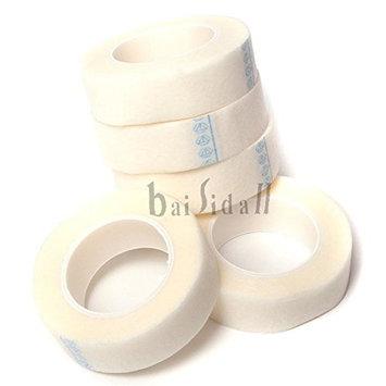 Baisidai 5 Rolls Medical Tape for Individual Eyelash Extension Supply